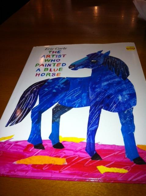 Blue horse!